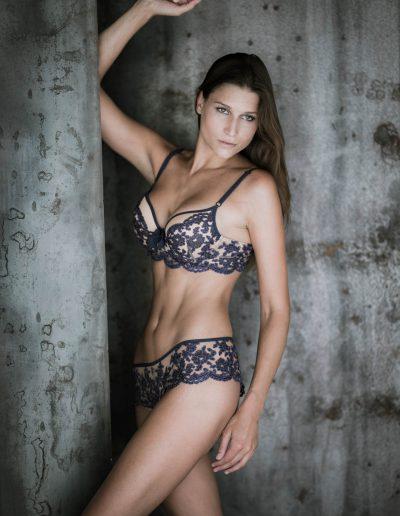 Jeanne B paarse lingerie